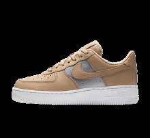 Nike Women's Air Force 1 '07 SE Premium Bio Beige/Metallic Silver-White