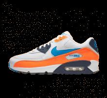 Nike Air Max 90 Essential White/Photo Blue-Total Orange