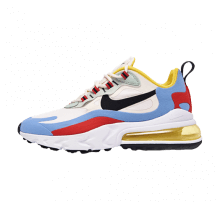 Nike Women's Air Max 270 React Phantom/Light Blue-University Red