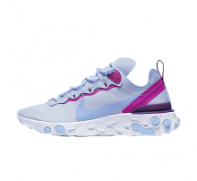 Nike Women's React Element 55 Football Grey/Psychic Blue-Hyper Violet