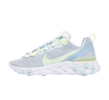 Nike Women's React Element 55 White/Frosted Spruce-Barely Volt