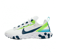 Nike Women's React Element 55 White/Blue Force-Summit White