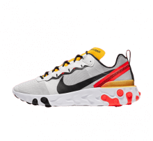 Nike React Element 55 White/Black-Bright Crimson