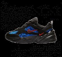 Nike M2k Tekno Premium Black Leopard Habanero Red/Racer Blue