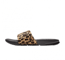 buy online c95e7 c0fda Nike Women s Benassi Just Do It Leopard Desert Ore Black