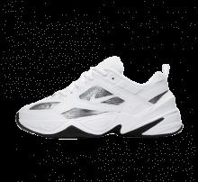 Nike Women's M2K Tekno ESS White/Metallic Silver-Black