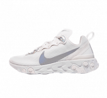 Nike Women's React Element 55 Summit White/Metallic Silver