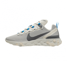 Nike React Element 55 Light Bone/Dark Grey-Metallic Silver