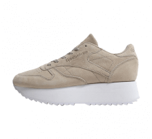 Reebok Women's Classic Leather Double Light Sand/White