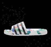 Adidas Women's Adilette Flower Footwear White/Core Black