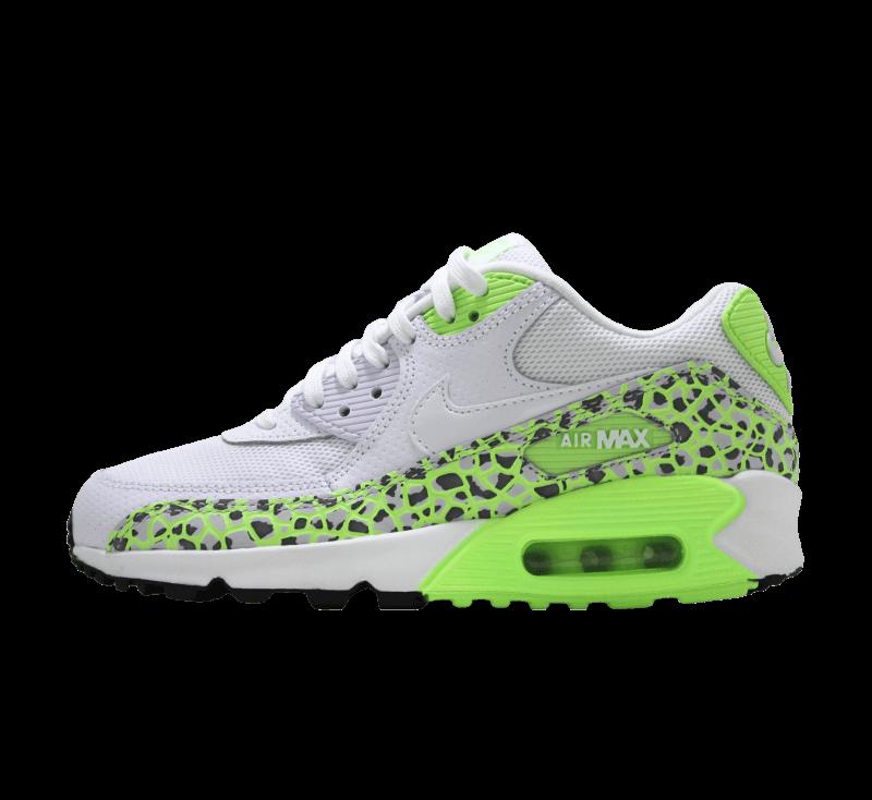 Nike Air Max 90 Premium Wmns White White Ghost Green