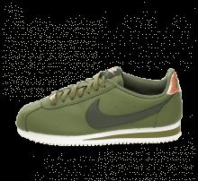 Nike Women's Classic Cortez Leather Olive Canvas/Sequoia-Metallic Bronze