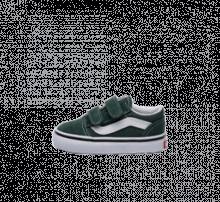 newest 55481 0994c Vans Old Skool V Trekking Green True White