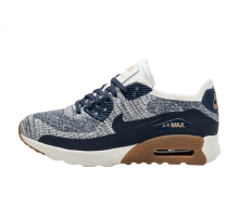 Nike W Air Max 90 Ultra 2.0 Flyknit College Navy Gum / Med Brown