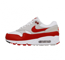 Nike Women's Air Max 90/1 White/University Red-Neutral Grey