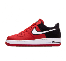 detailed look a52fc 4a65b Nike Air Force 1 07 LV8 1 Mystic RedWhite-Black