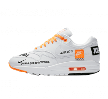 new arrival 4ab6a 440cd Nike Women s Air Max 1 LUX Just Do It White Black-Total Orange