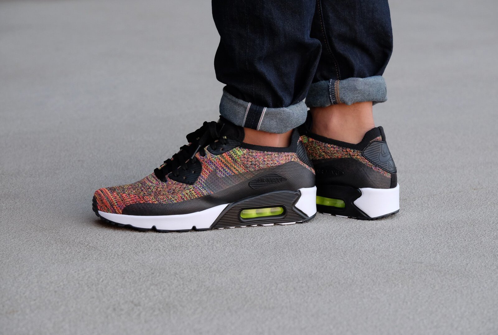 Nike Air Max 90 Ultra 2.0 Flyknit Multicolor BlackMulti 875943 002