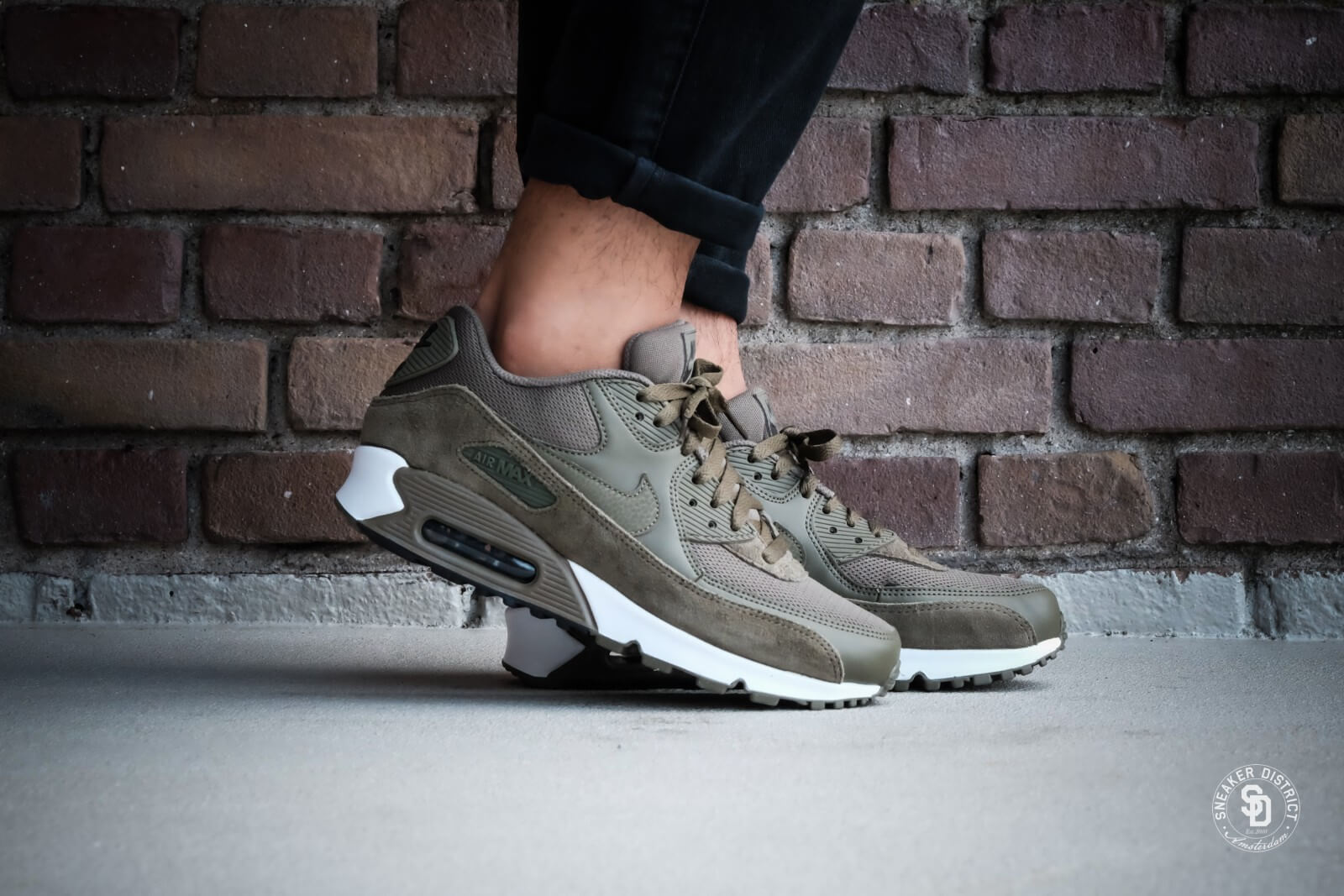 reputable site bdd11 eb7b3 ... 819523-201 Nike Air Max 90 Essential Medium OliveVelvet Brown - 537384-  ...