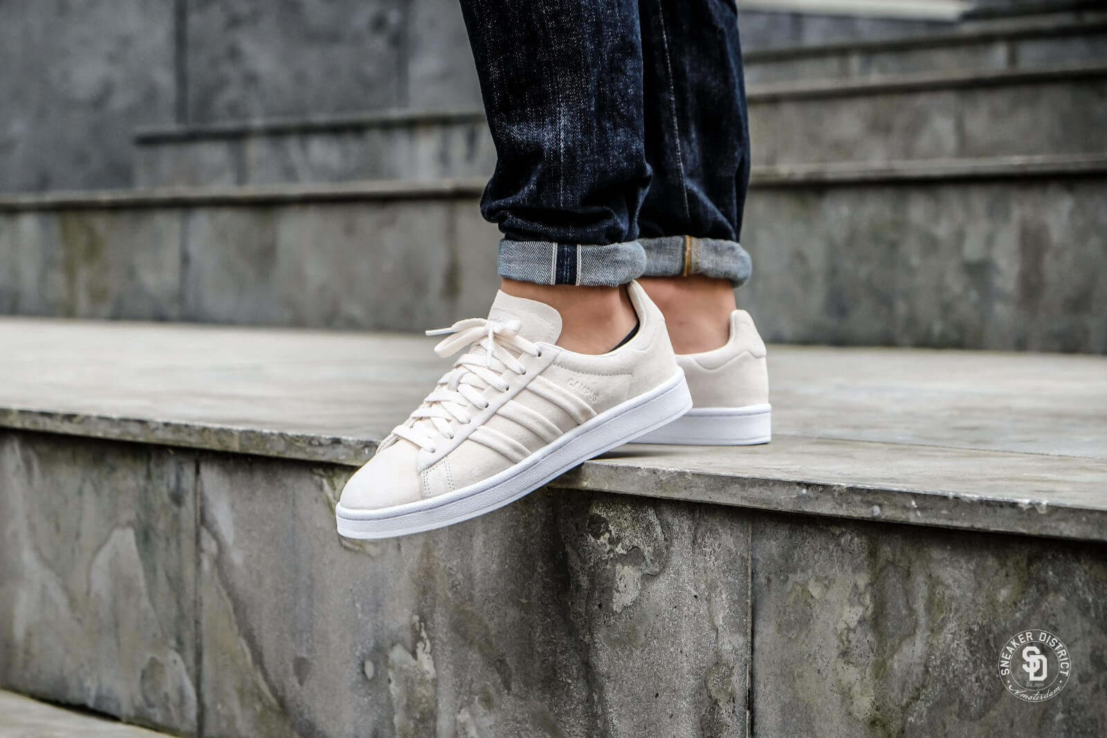 Adidas Campus Stitch and Turn Chalk WhiteFootwear White BB6744