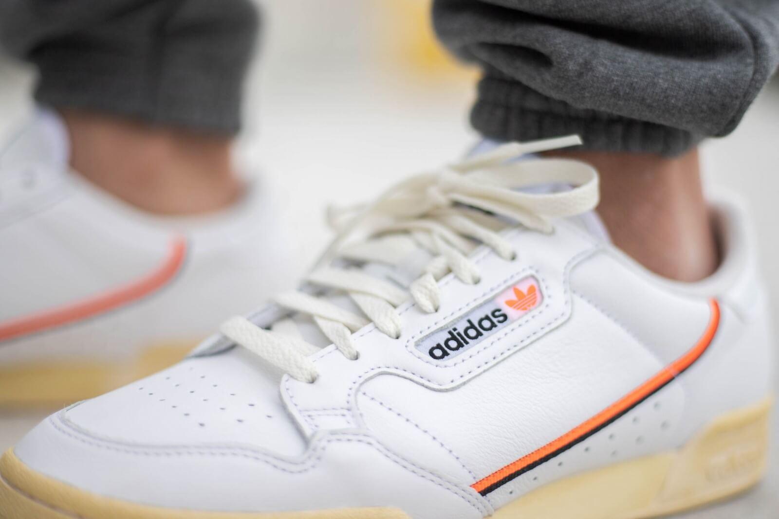 Adidas Continental 80 Cloud White/Orange