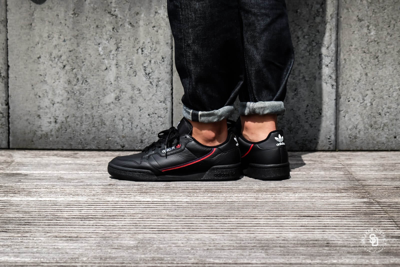 Adidas Continental 80 Core BlackScarletNavy B41672