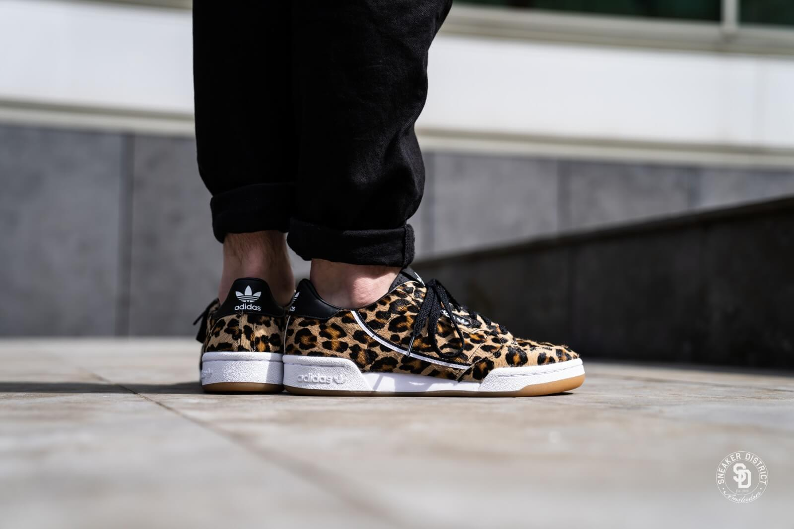 Adidas Continental 80 Leopard Core Black/Footwear White