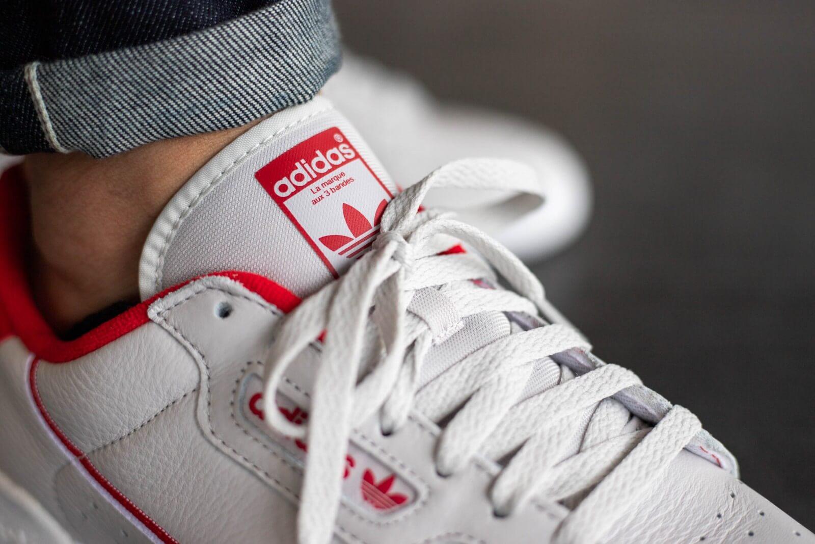 Adidas Continental 80 Grey One/Scarlet