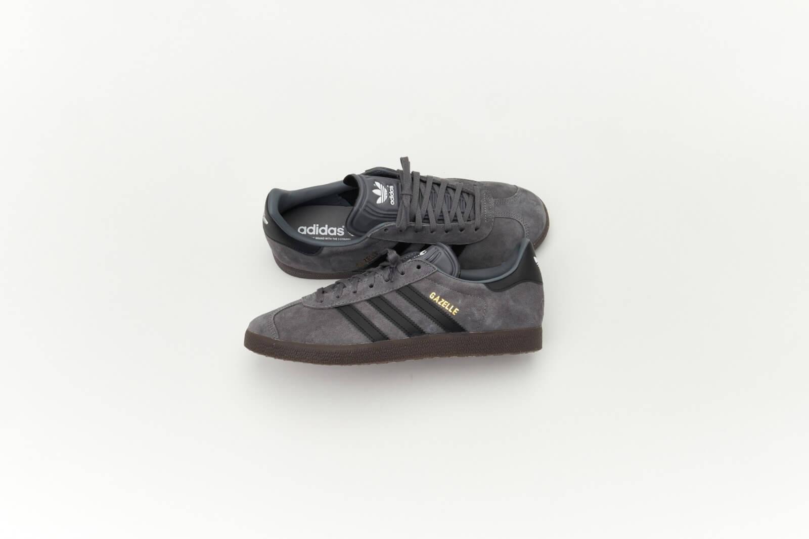 Adidas Gazelle Grey Four/Core Black-Gum5