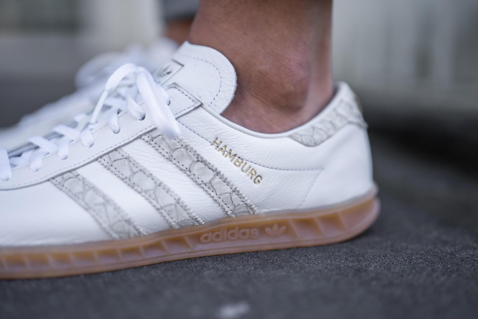 Adidas Hamburg Fish Market Cloud White/Silver Metallic-Grey Two