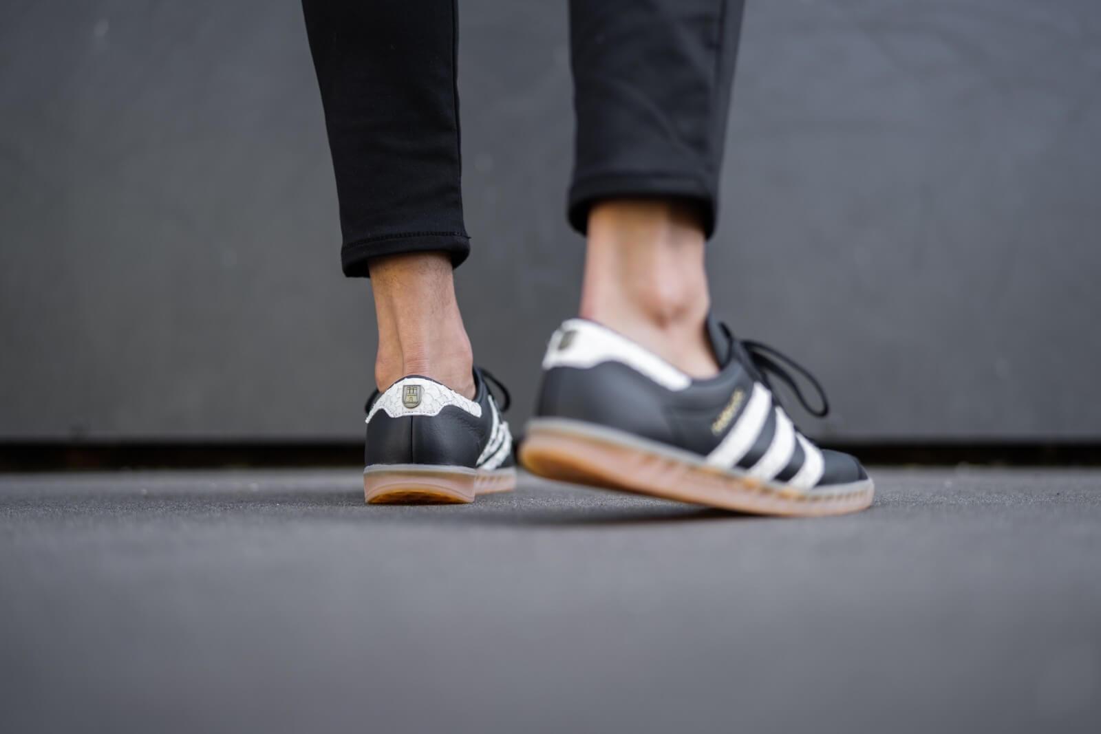 adidas Hamburg Core Black Footwear White Lush Red EF5674