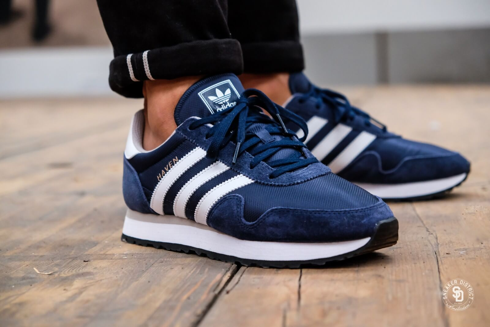 Adidas Haven Collegiate Navy/Footwear White/Clear Granite