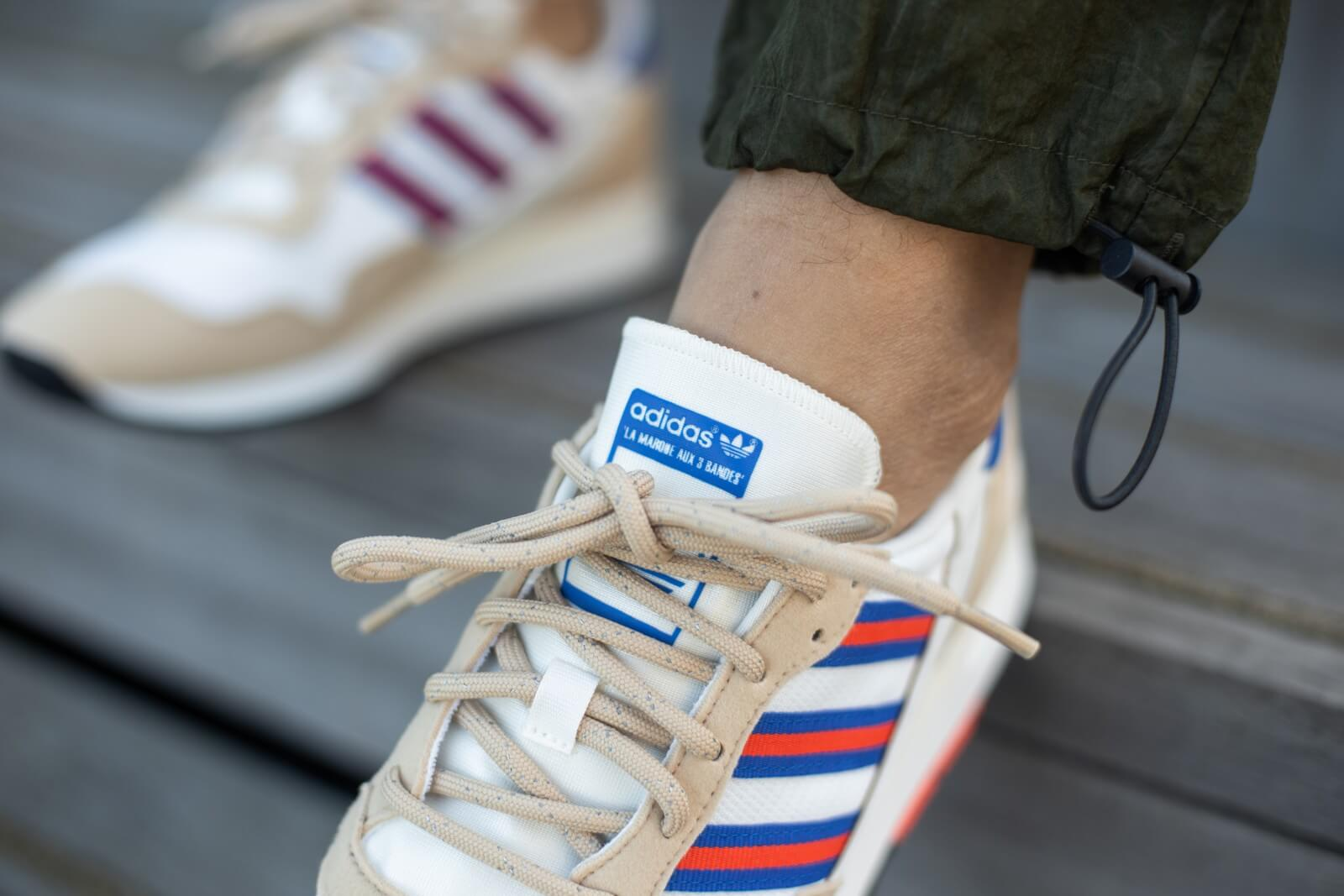 Adidas Lowertree Off White/Hi-Res Red