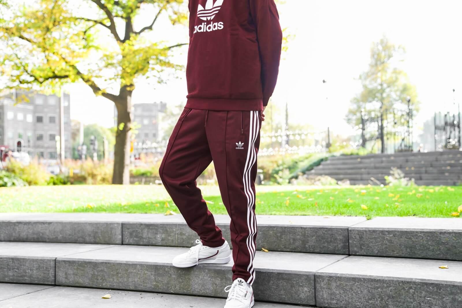Adidas Beckenbauer Track Pants Maroon