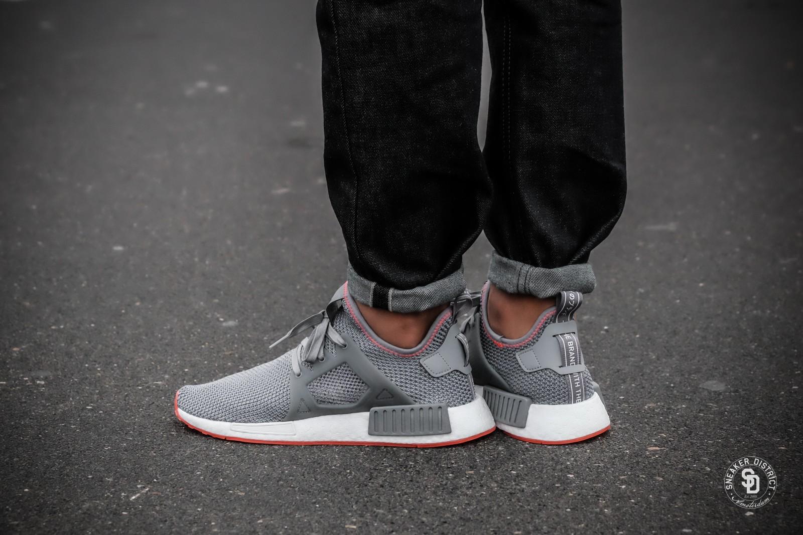 Adidas NMD XR1 Grey ThreeSolar Red BY9925