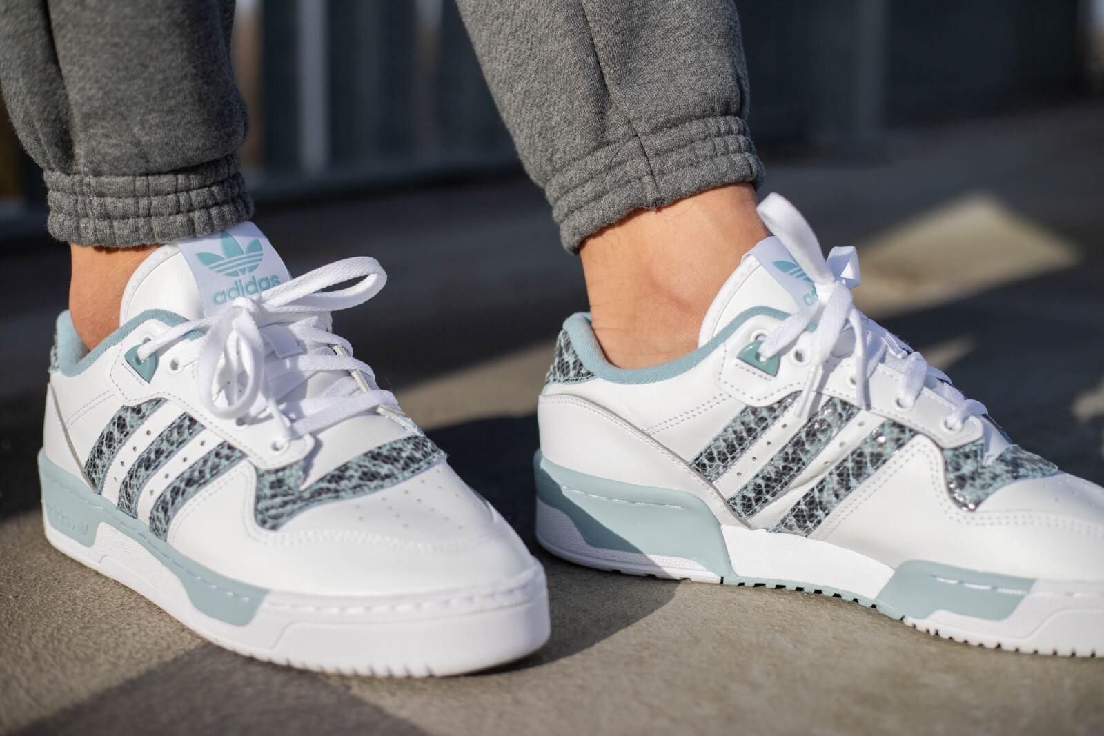 Adidas Rivalry Low Snakeskin Footwear WhiteAsh Grey EG7636