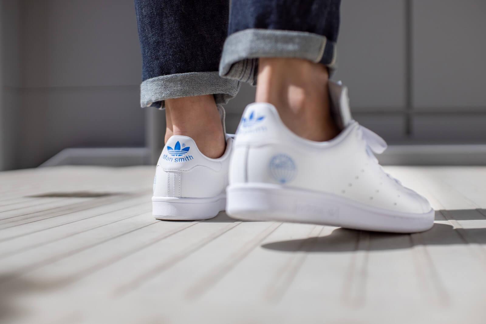 Adidas Stan Smith Cloud White/Blue Bird