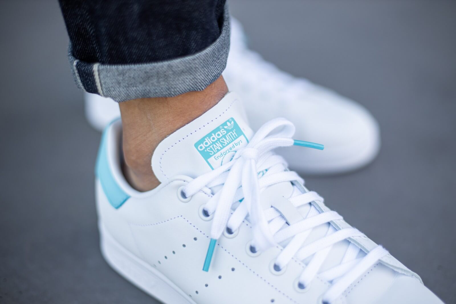Adidas Stan Smith Cloud White/Blue Glow