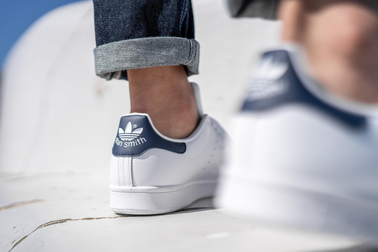 renombre mundial lindos zapatos brillo encantador Adidas Stan Smith Core White/Dark Blue - M20325