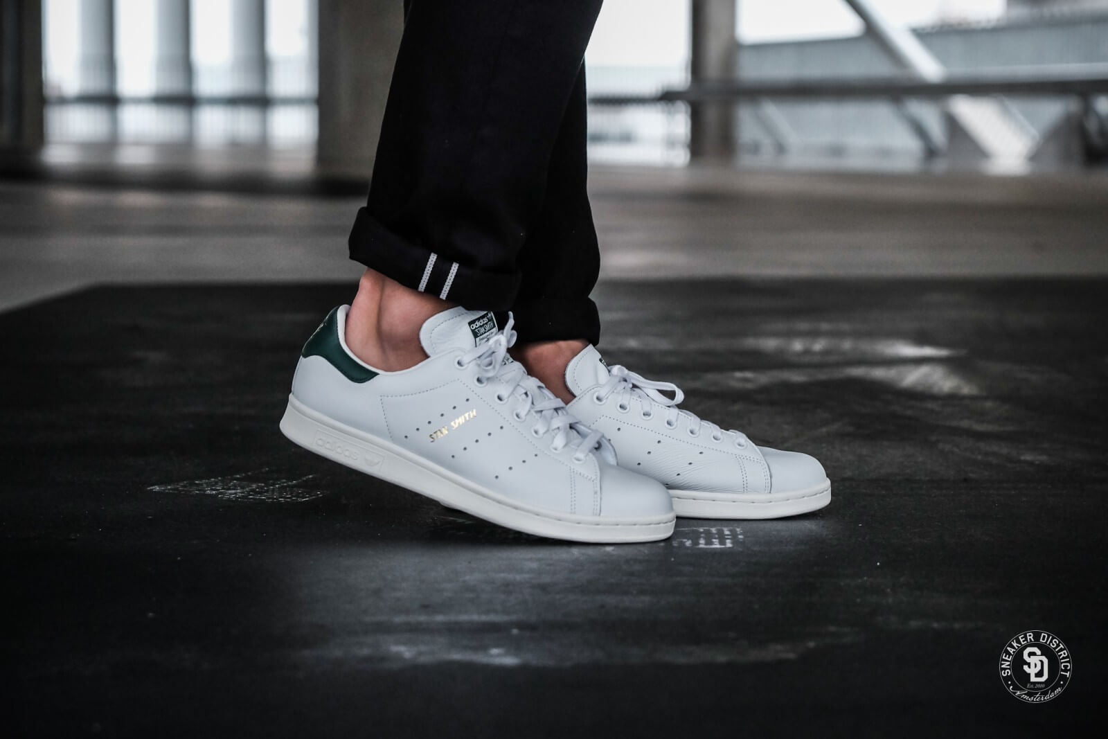 Adidas Stan Smith calzado blanco / CORE Verde cq2871