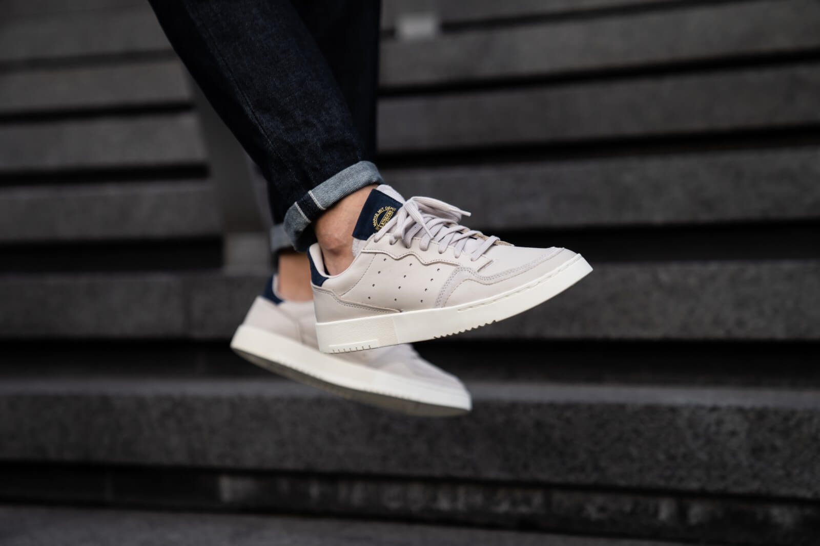 Adidas Supercourt Clear Brown/Collegiate Navy - EE6035