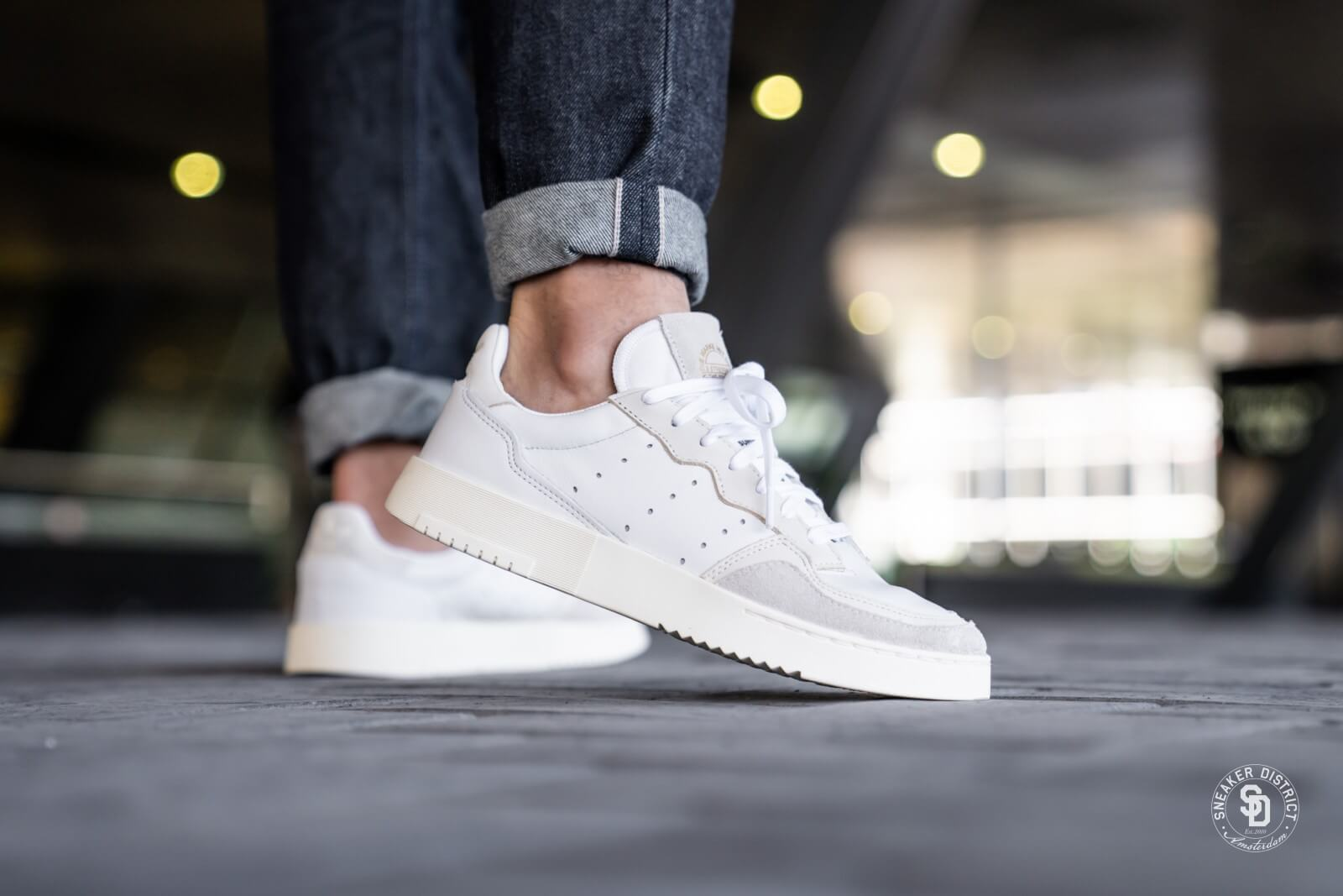 Adidas Supercourt Crystal White/Core White - EE6024