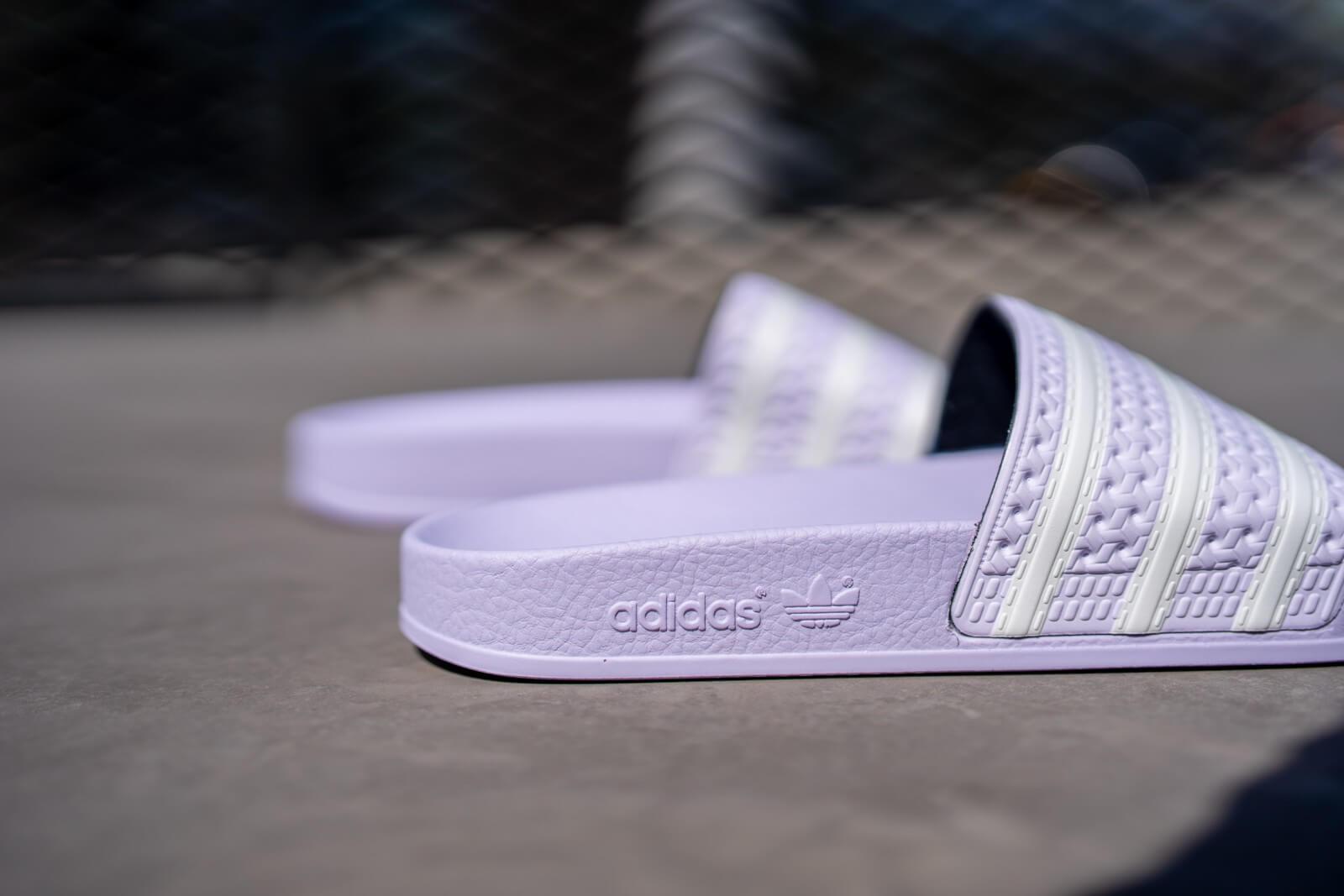 Adidas Women's Adilette Purple Tint/Cloud White