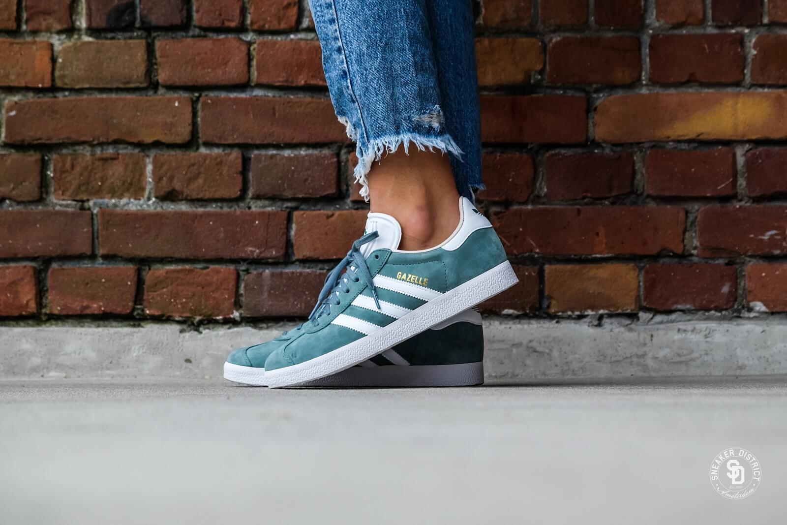 Adidas Women's Gazelle Raw Green/Footwear White-Linen