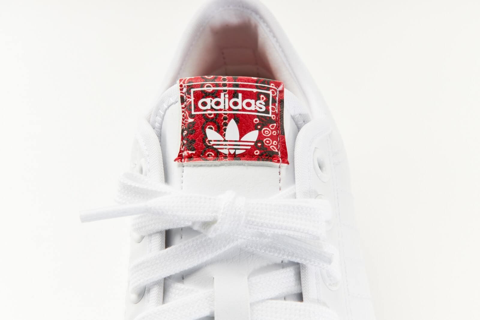 Adidas Women's Nizza Platform Cloud White/Glory Red-Core Black