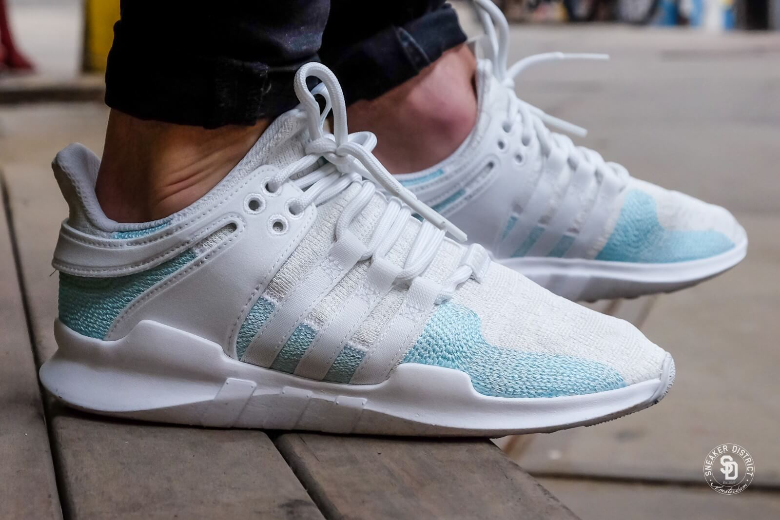 huge selection of 9f2fd beb81 ... where to buy adidas x parley eqt support adv running white blue spirit  off white 96b52