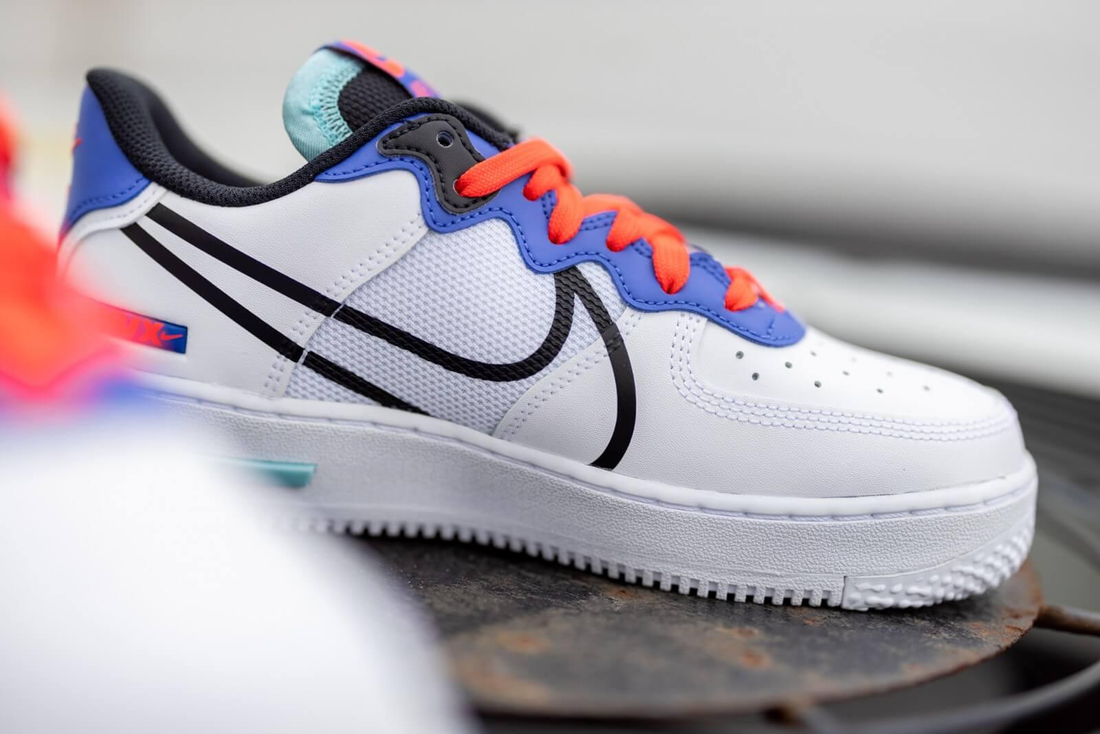 Nike Air Force 1 React White/Black-Astronomy Blue