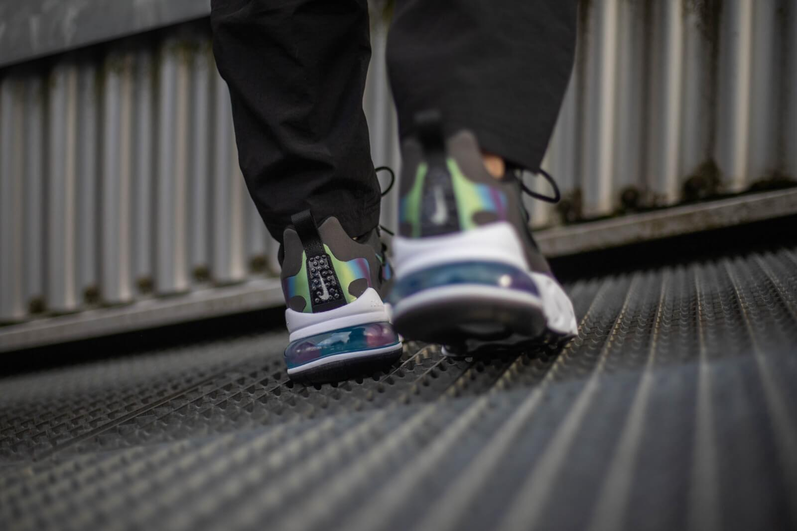 Nike Air Max 270 React Bubble Pack Smoke GreyMulti Color White CT5064 001