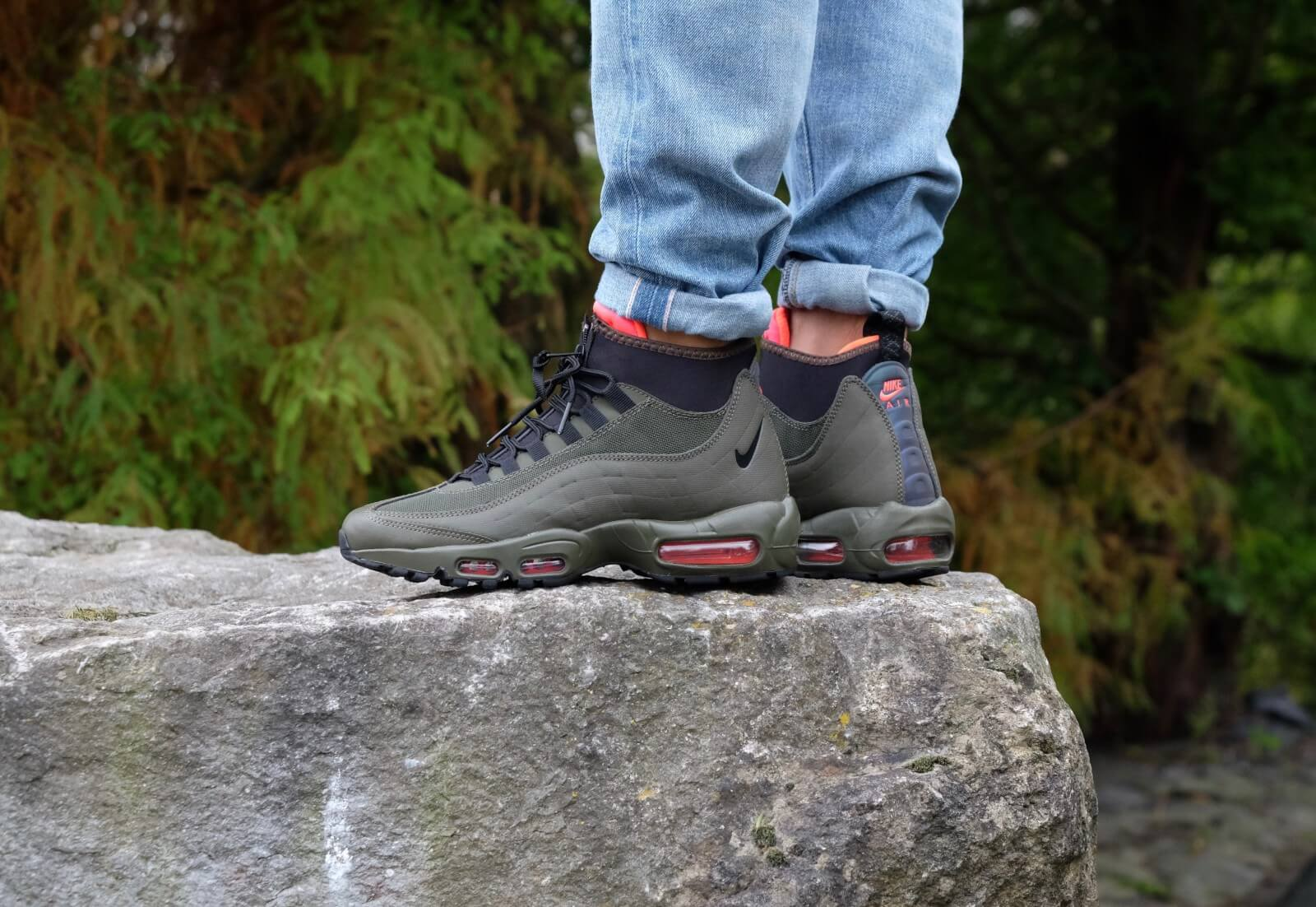 Nike Air Max 95 Sneakerboot In Green | Sneaker boots, Trendy
