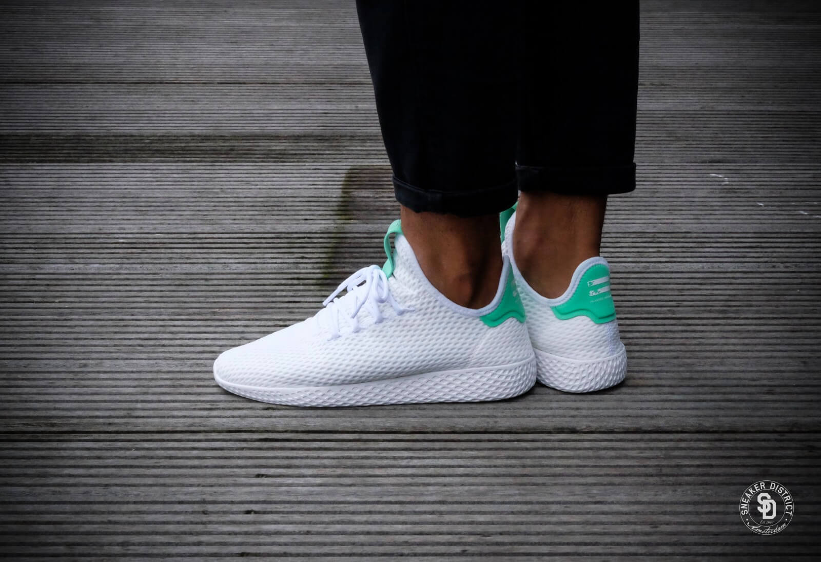 Adidas X Pharrell Williams Tennis Hu White Green By8717
